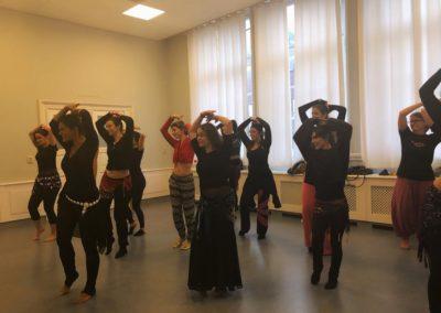 Bellydance class in the Heartbeat Dance Studio